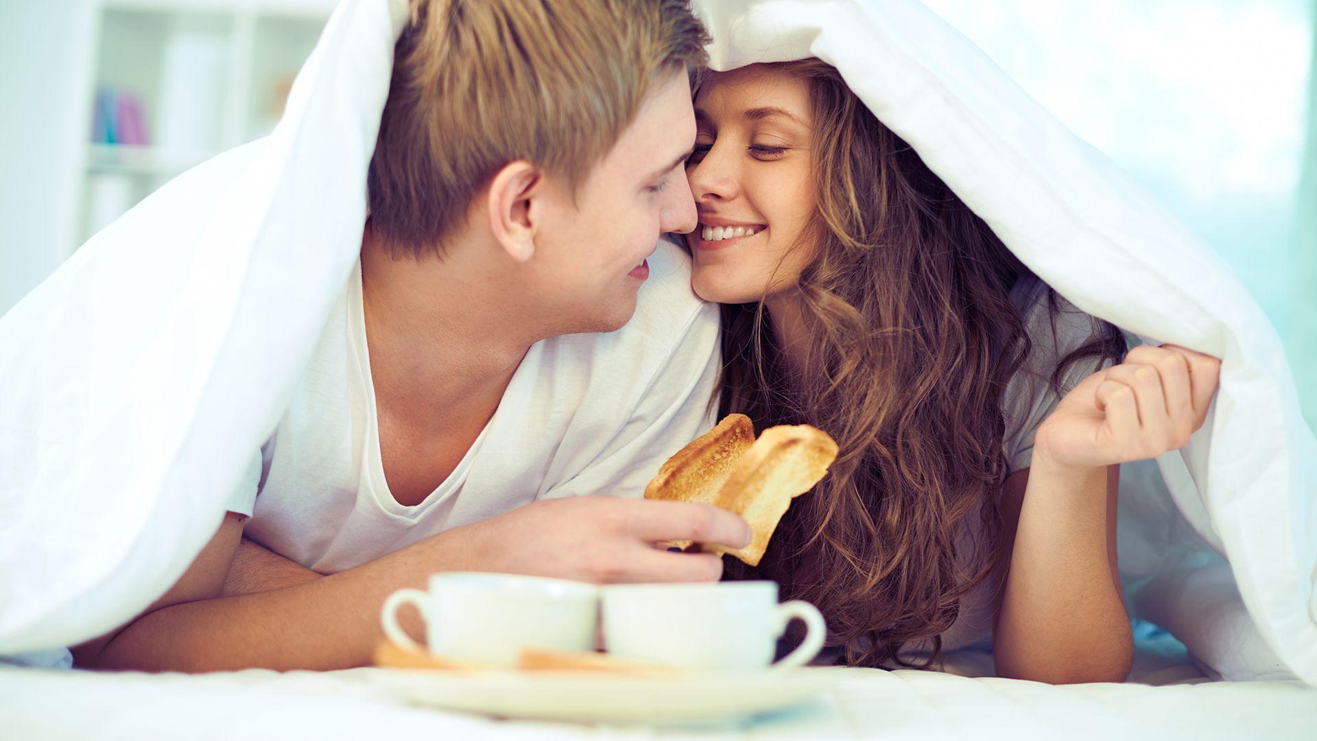 Valentijn ontbijt op bed
