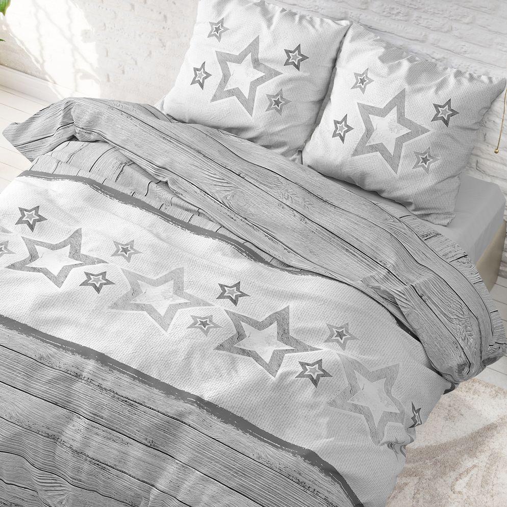 Sleeptime Stars and Stars flanel dekbedovertrek