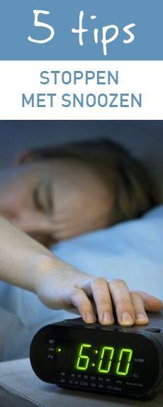 5 tips om te stoppen met snoozen