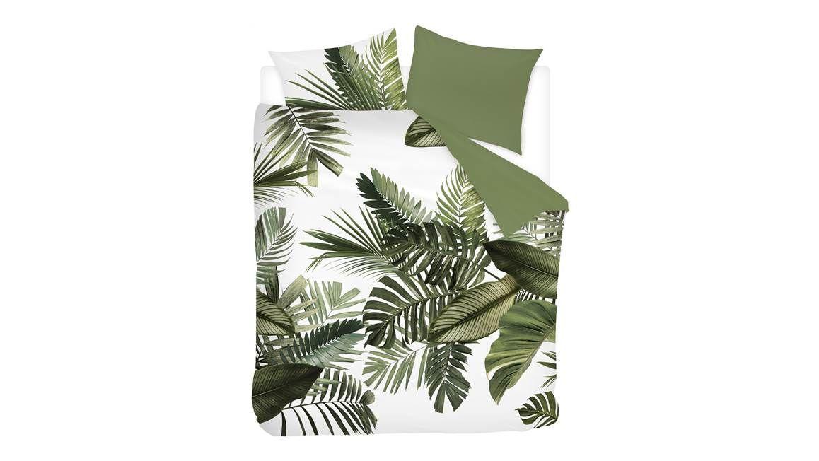 Snoozing Palm Leaves dekbedovertrek past goed bij slaapkamerplanten