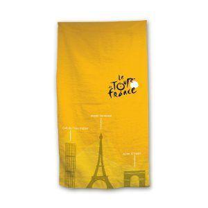 Tour de France strandlaken, geel, 100% katoen