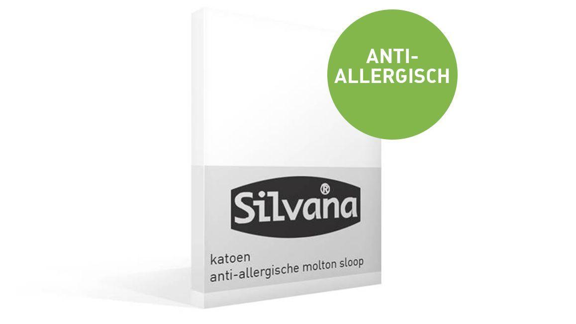 Silvana anti-allergische molton kussensloop
