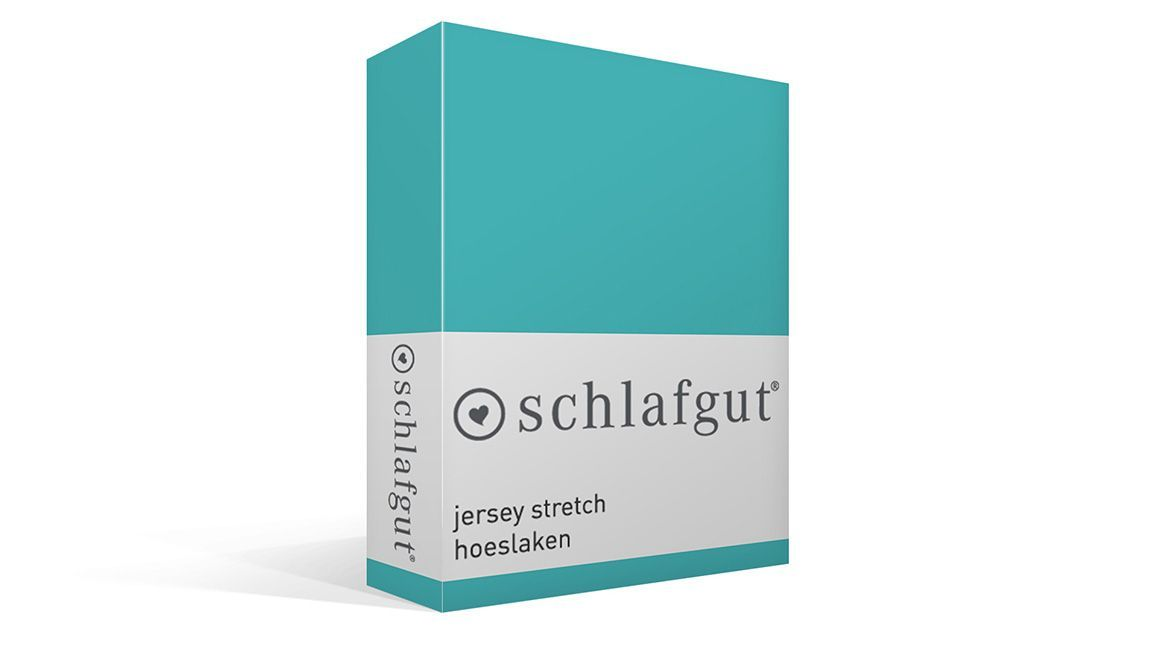 Schlafgut jersey stretch hoeslaken turquoise
