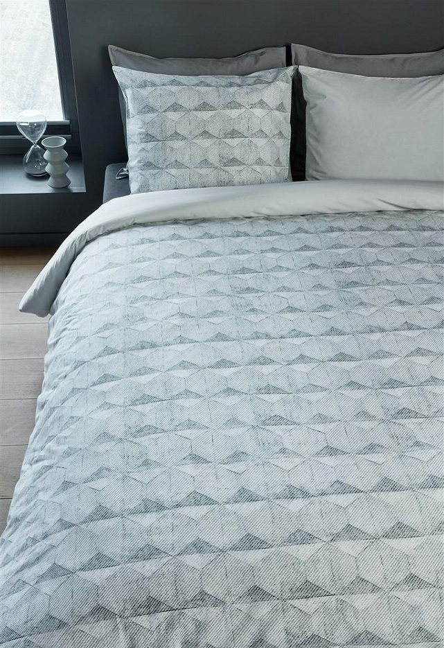 Beddinghouse Concrete Tile dekbedovertrek - Grey