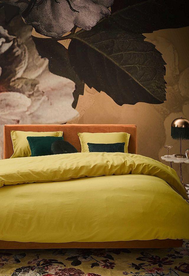 Essenza Minte dekbedovertrek - Golden Yellow