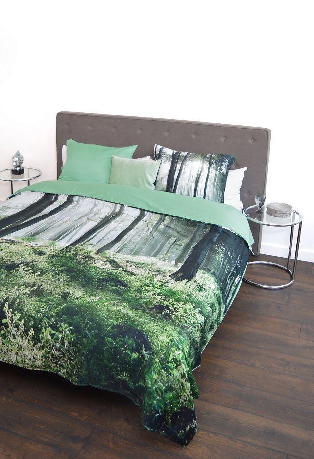 Snoozing Forest dekbedovertrek - Green