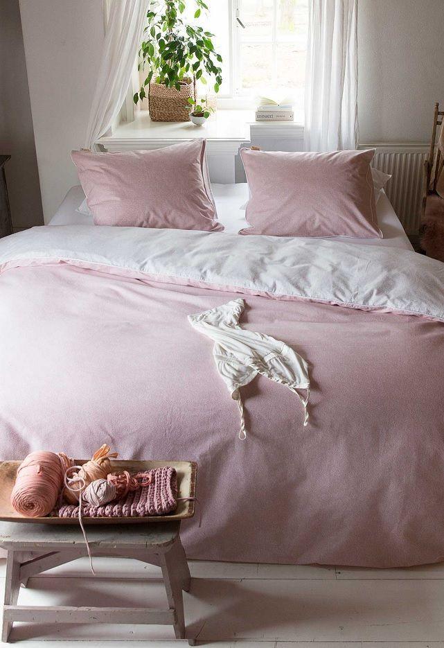 Walra Dazzling Dots flanel dekbedovertrek - Pink