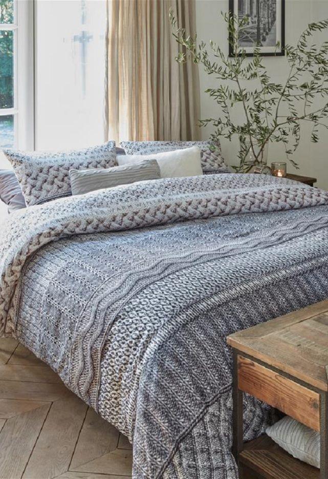 Rivièra Maison Winter Warm dekbedovertrek - Grey