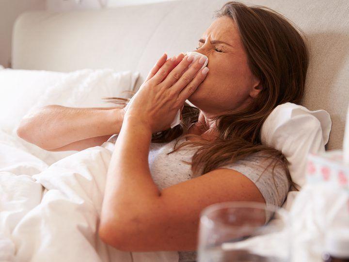 veel verkouden in de herfst