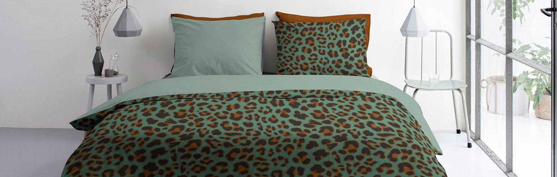 Byrklund Lazy Leopard dekbedovertrek