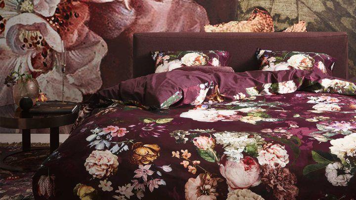 Essenza Fleur dekbedovertrek - Burgundy - Essenza najaarscollectie
