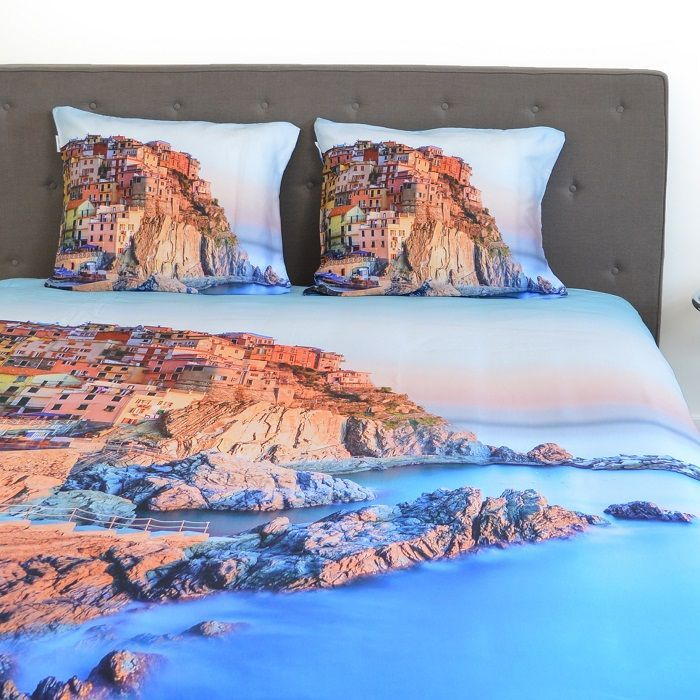 Snoozing Cinque Terre dekbedovertrek - Dromen over de ultieme roadtrip