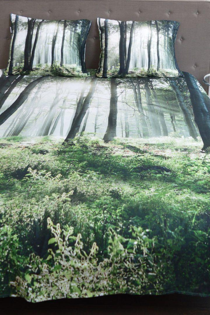 Snoozing Forest flanel dekbedovertrek - Wie is er net zo lui als een koala?