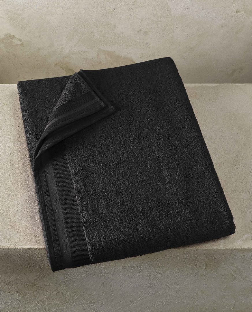 Contessa badlaken (100x150 cm) - Black - De Witte Lietaer badtextiel