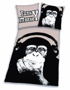 Funky Monkey dekbedovertrek