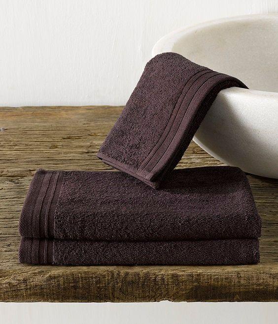 Imagine gastendoekje (30x50 cm) - Fudge Brown - De Witte Lietaer badtextiel