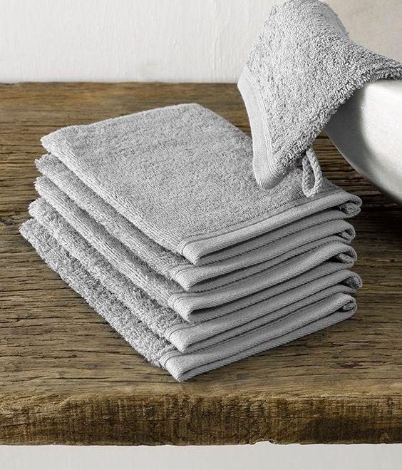Imagine washandje (16x22 cm) - Paloma Grey - De Witte Lietaer badtextiel