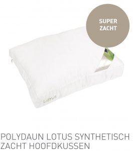 Polydaun Lotus synthetisch zacht hoofdkussen