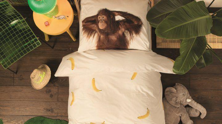 SNURK Banana Monkey dekbedovertrek - Monkey Day