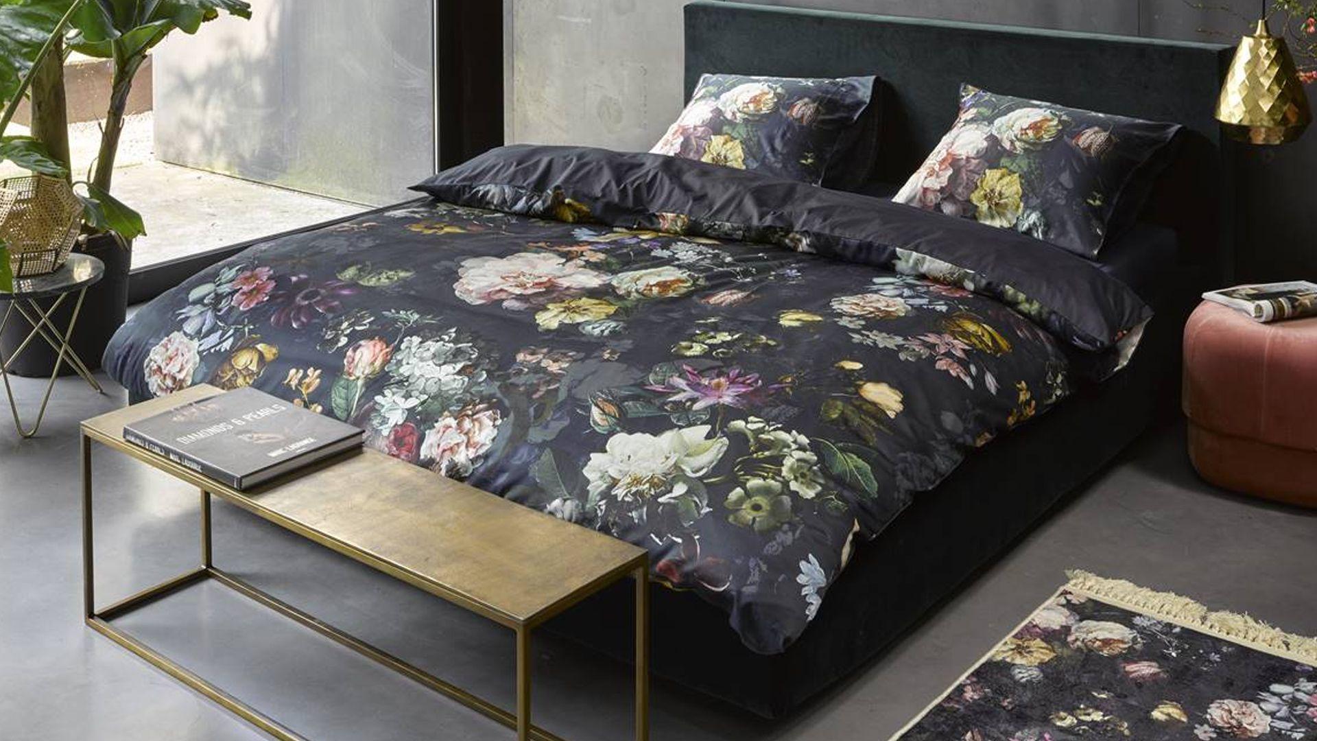Essenza Fleur dekbedovertrek nightblue