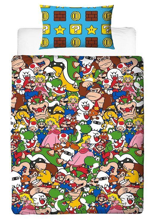 Mario dekbedovertrek - Gamen in bed