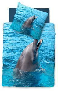 Snoozing Dolfijn dekbedovertrek - Samen slapen met je kids