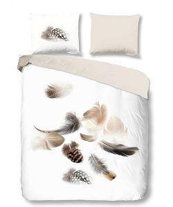 Snoozing Feathery flanel dekbedovertrek - Zo kom jij de winter door