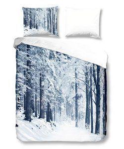 Snoozing Forest flanel dekbedovertrek - Zo kom jij de winter door