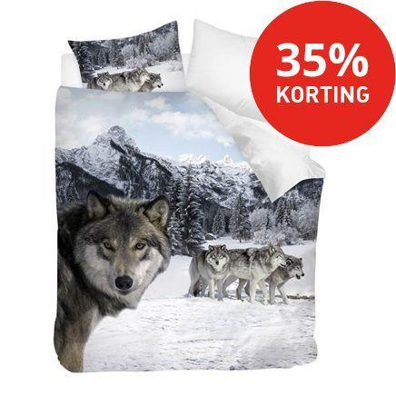 Snoozing Wolf dekbedovertrek