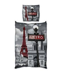 Paris dekbedovertrek - Lesje topografie voor je kind