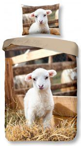 Good Morning Lamb dekbedovertrek - be happy