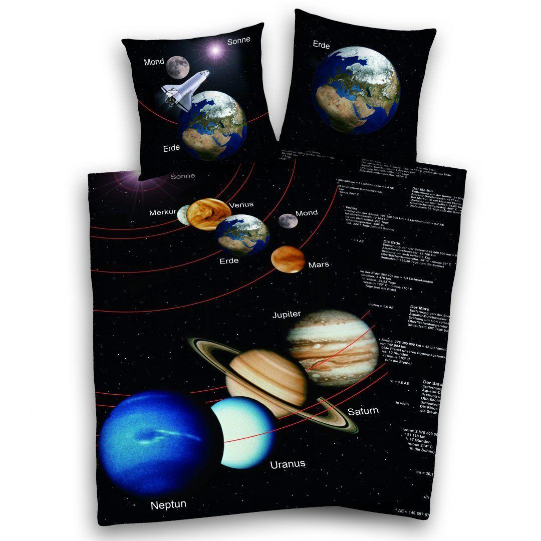 Earth Planet dekbedovertrek - Dag van de ruimtevaart