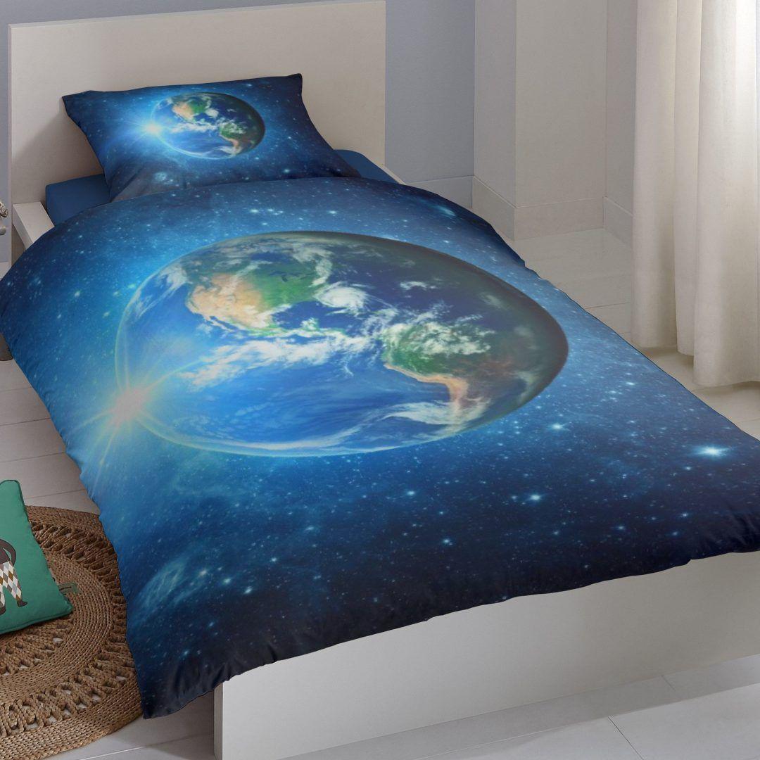 Good Morning Earth dekbedovertrek - Dag van de ruimtevaart