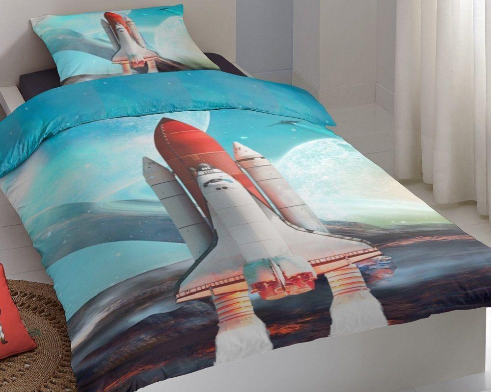 Good Morning Spaceshuttle dekbedovertrek - Dag van de ruimtevaart