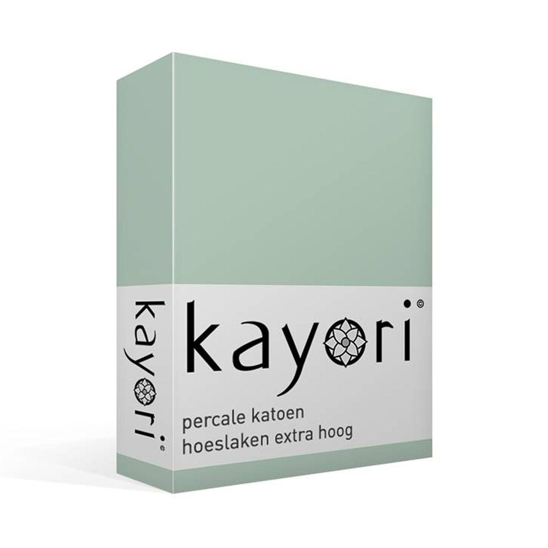 Kayori Shizu percale katoen hoeslaken extra hoog