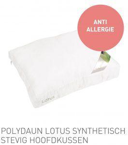 Polydaun Lotus synthetisch stevig hoofdkussen