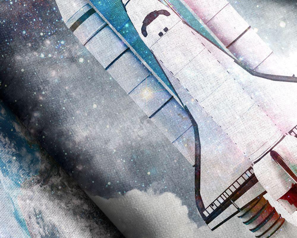 Sleeptime Space Shuttle dekbedovertrek - Dag van de ruimtevaart