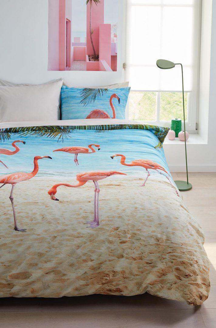 Beddinghouse Bon Bini dekbedovertrek - flamingo