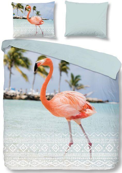Good Morning Goodlife dekbedovertrek - flamingo