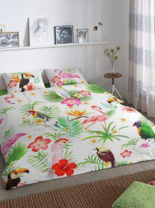 Good Morning Paradise dekbedovertrek - flamingo