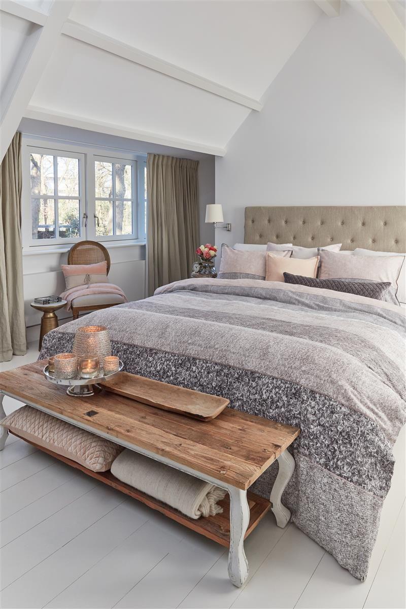 Rivièra Maison Softness dekbedovertrek - Nude - in 5 stappen een landelijke slaapkamer