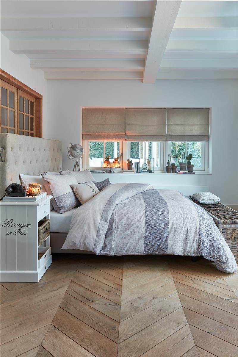 Rivièra Maison Softness dekbedovertrek - Sand - in 5 stappen een landelijke slaapkamer