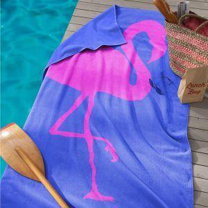 Seahorse Flamingo strandlaken
