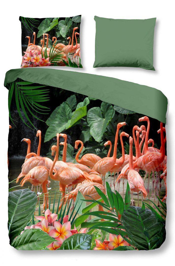 Snoozing Flamingo dekbedovertrek