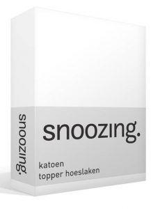 Snoozing katoen topper hoeslaken