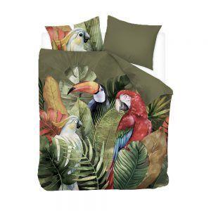 Snoozing Macaw dekbedovertrek