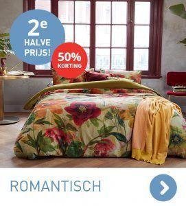 Romantische dekbedovertrekken 2e halve prijs