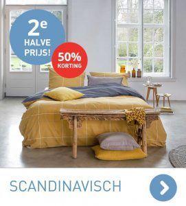 Scandinavische dekbedovertrekken 2e halve prijs