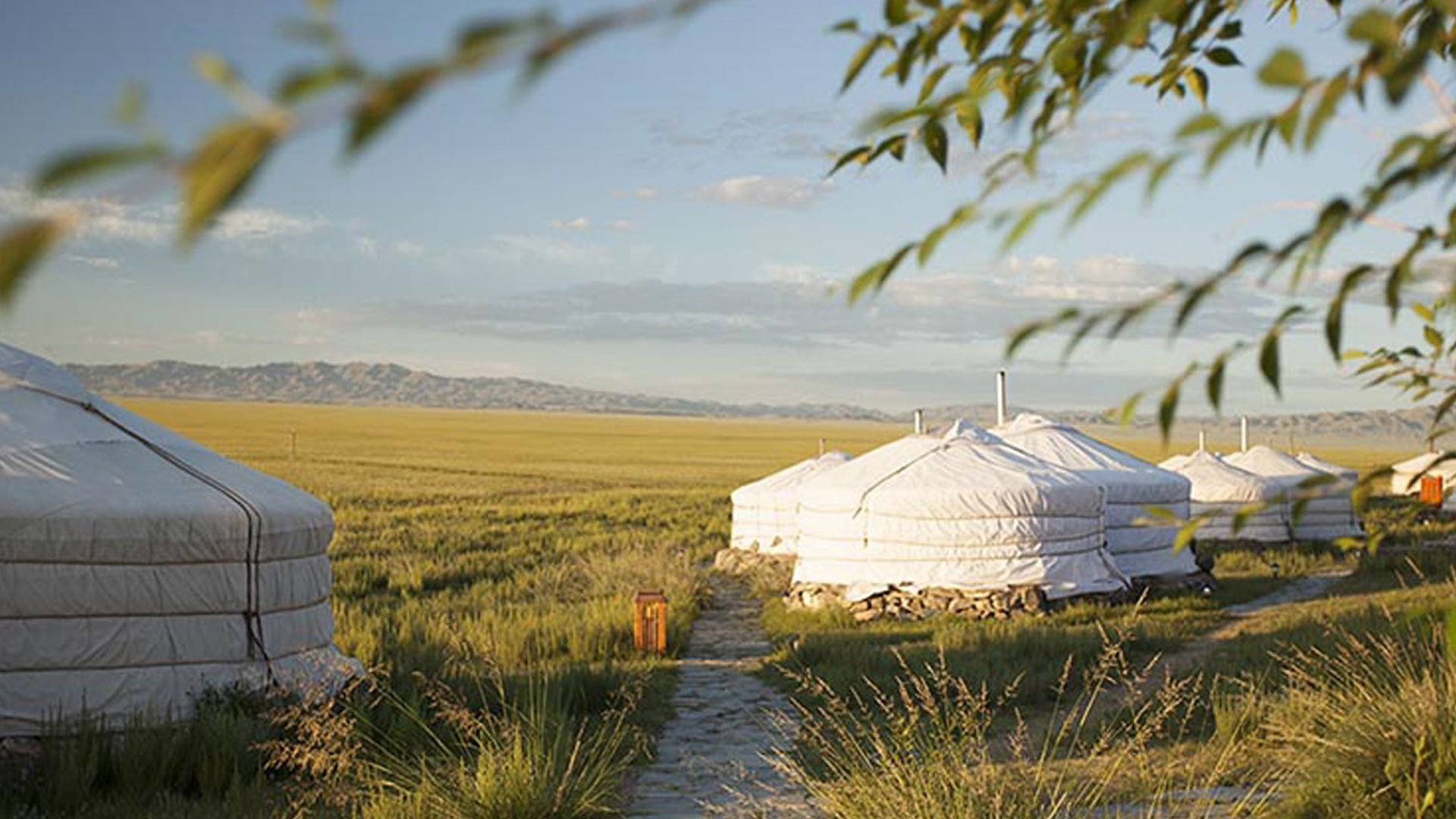 Mongolië yurts Three Camel Lodge