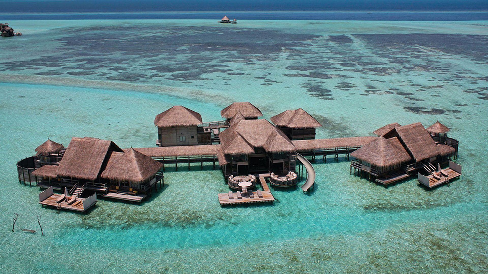 Waterbungalow Gili Lankanfushi Resort Malediven